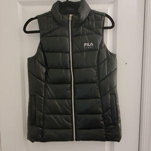 FILA shinny black  puffy vest